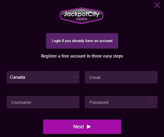 REGISTER AT JACKPOT CITY